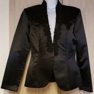 Bahari black silky jacket